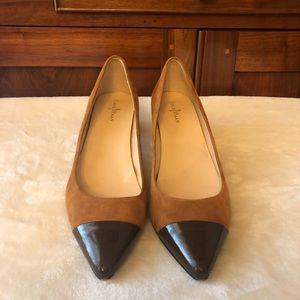 Cole Haan Tan and Brown Kitten Heel Size 8.5